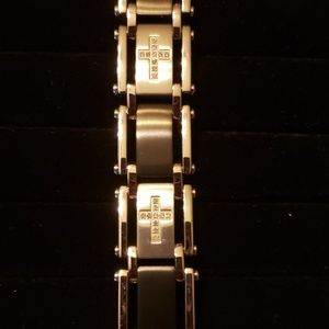 Other - Mens Stainless Steel cross bracelet with box